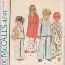 McCALL'S PATTERN 4741 CHILD'S ROBE AND PAJAMAS SIZE 4