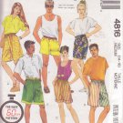 McCALL'S PATTERN 4816 UNISEX SHORTS IN 2 LENGTHS SIZE MD 14-16