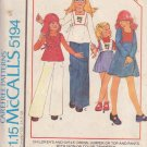 McCALL'S PATTERN 5194 GIRL'S DRESS, JUMPER, TOP, PANTS COLOR TRANSFER SIZE 4