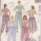 McCALL'S PATTERN 5210 MISSES' DRESS AND JUMPSUIT IN 2 LENGTHS SIZES 6/8/10