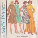McCALL'S PATTERN 5497 MISSES' DRESS IN 2 LENGTHS, SCARF SIZE 14