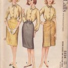 McCALL'S VINTAGE PATTERN 5524 SUBTEEN BLOUSES, 1 YARD SKIRT SIZE 10S