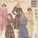 McCALL'S PATTERN 5536 MISSES' DRESSES, JUMPSUITS IN 2 LENGTHS SIZE 14