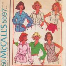 McCALL'S PATTERN 5597 MISSES' SET OF BLOUSES IN 6 VARIATIONS SIZE 14