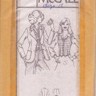 McCALL'S PATTERN 5634 MISSES' UNLINED BLAZER AND VEST SIZE 18