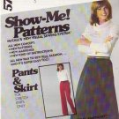 McCALL'S PATTERN 5756 MISSES' PANTS AND SKIRT SIZES 8/10/12