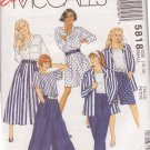 McCALL'S PATTERN 5818 SIZES 12/14 MISSES' JACKET, TOP, SPLIT SKIRT, PANTS SIZES 12/14