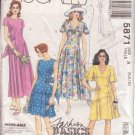 McCALL'S PATTERN 5871 MISSES' DRESS IN 2 LENGTHS, 2 VERSIONS SIZES 6/8/10