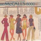 McCALL'S PATTERN 6000 SZS 12/14/16 MISSES' UNLINED JACKET, SKIRT, PANTS, SHORTS