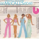 McCALL'S PATTERN 6046 MISSES' UNLINED JACKET, TOP, PANTS, SHORTS SIZES 6/8/10