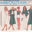 McCALL'S PATTERN 6085 MISSES' SHIRT-JACKET, SKIRT, PANTS, SHORTS SZS 10/12/14