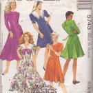 McCALL'S PATTERN 5743 MISSES' DRESS IN 2 LENGTHS, 5 VARIATIONS SIZE 12/14