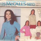 McCALL'S PATTERN 5810 MARLO THOMAS SZ 8 MISSES' BLOUSES IN 4 VARIATIONS UNCUT