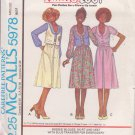 McCALL'S PATTERN 5978 ANNIE, TOO MISSES' BLOUSE, SKIRT, VEST,TRANSFER SZ 8 UNCUT