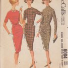 McCALL'S VINTAGE PATTERN 6084 MISSES' 1961 DRESS IN 3 VARIATIONS SIZE 14