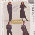 McCALL'S PATTERN 6201 MISSES' DESIGNER JACKET, TOP, SKIRT, PANTS SIZE 8/10/12