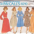 McCALL'S PATTERN 6210 MISSES' DRESS in 5 VARIATIONS SIZES 14 1/2, 16 1/2, 18 1/2