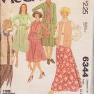 McCALL'S PATTERN 6344 MISSES' JACKET, VEST, DRESS, TOP, SKIRT SZ 12/14/16