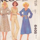 McCALL'S PATTERN 6408 MISSES' DRESS, TOP, SKIRT, PANTS SIZE PETITE 6/8 UNCUT
