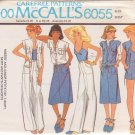 McCALL'S PATTERN 6055 MISSES' TOP, T-SHIRT, SKIRT, PANTS, SHORTS SIZE 8 UNCUT
