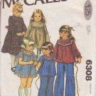 McCALL'S PATTERN 6308 GIRLS' DRESS IN 2 LENGTHS, TOP IN 2 VARIATIONS SIZE 4