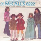 McCALL'S PATTERN 6222 GIRLS' DRESS IN 2 LENGTHS, TOP IN 2 VARIATIONS SIZE 4