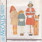 McCALL'S PATTERN 5870 GIRLS' COAT, CAPELET, HAT, MUFF SIZE 4 UNCUT