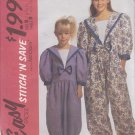 McCALL'S PATTERN 5784 CHILDS' JUMPSUIT SIZES 7/8/10/12 UNCUT