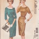 McCALL'S VINTAGE PATTERN 6010 SZ 14 1/2 MISSES' DRESS IN 2 VARIATIONS