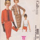 McCALL'S VINTAGE PATTERN 6052 MISSES' SUIT AND OVERBLOUSE SIZE 18