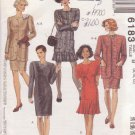 McCALL'S PATTERN 6183 MISSES' JACKET & DRESSES IN 4 VARIATIONS SIZES 8/10/12