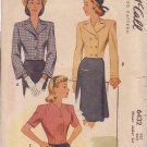McCALL'S VINTAGE PATTERN 6432 MISSES' 1946 JACKET IN 3 VARIATIONS SIZE 14