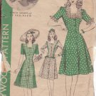 HOLLYWOOD VINTAGE PATTERN 1102, 1940'S, 1 PIECE DRESS SIZE 14 BONITA GRANVILLE