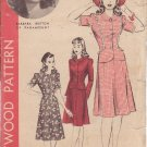 HOLLYWOOD VINTAGE PATTERN 1163 MISSES' 2 PC DRESS SIZE 16 BARBARA BRITTON
