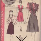 HOLLYWOOD PATTERN 1200 MISSES' JUMPER AND BLOUSE SIZE 16 MERLE OBERON
