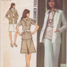 SIMPLICITY 5530 VINTAGE PATTERN SIZE 10MP MISSES' CARDIGAN, BLOUSE, SKIRT, PANTS