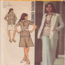 SIMPLICITY 5530 VINTAGE PATTERN MISSES' CARDIGAN, BLOUSE, SKIRT, PANTS SIZE 12