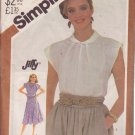 SIMPLICITY 5542 VINTAGE PATTERN MISSES' DRESS OR PULLOVER TOP SIZE 12