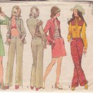 SIMPLICITY 5517 PATTERN SIZE 12 MISSES' WESTERN SHIRT, JACKET, HIP HUGGER SKIRT & PANTS