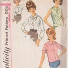 SIMPLICITY 5418 VINTAGE PATTERN MISSES' BLOUSE IN 3 VARIATIONS SIZE 12