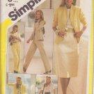 SIMPLICITY 5384 VINTAGE PATTERN MISSES' SKIRT, PANTS, BLOUSE, JACKET SIZE 12
