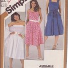 SIMPLICITY 5498 VINTAGE PATTERN SIZE 16 MISSES' SUNDRESS IN 3 VARIATIONS, SHAWL