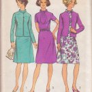 SIMPLICITY 5394 VINTAGE PATTERN MISSES' DRESS AND LINED JACKET SIZE 18