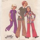 SIMPLICITY VINTAGE PATTERN 5338 GIRL'S TUNIC, BELL BOTTOM PANTS SIZE 8 UNCUT