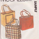 McCALL'S PATTERN FOR A TOTE BAG 3 VARIATIONS UNCUT