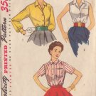 SIMPLICITY PATTERN 4256 SIZE 16 MISSES' BLOUSE IN 3 VARIATIONS