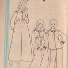SIMPLICITY PATTERN 8763 CHILD'S ROBE, NIGHTGOWN, PAJAMAS SIZES 12 + 14 UNCUT