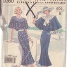SIMPLICITY PATTERN 9360 FOR A MISSES' DRESS IN 2 VARIATIONS SIZES 6-8-10-12