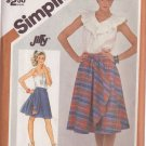SIMPLICITY VINTAGE PATTERN 5812 SIZE 10 MISSES' FRONT WRAPPED REVERSIBLE SKIRT