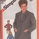 SIMPLICITY VINTAGE PATTERN 5664 MISSES' UNLINED JACKET IN 3 VARIATIONS SIZE 10